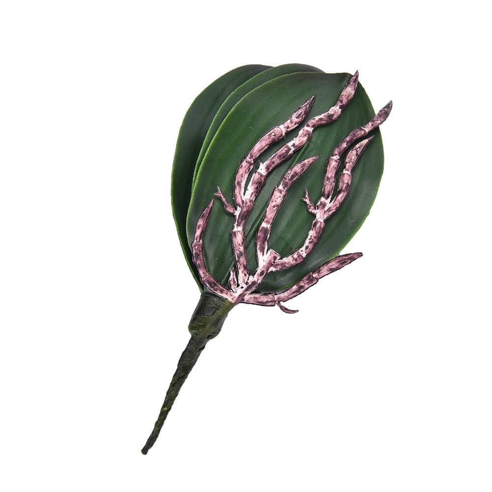 Künstliche Grünen Blätter Stieg/Schmetterling Orchidee Silk Schönheit Anlage Decor Silk Grüne Blätter Für Hochzeitsdekor Kranz Geschenk DIY