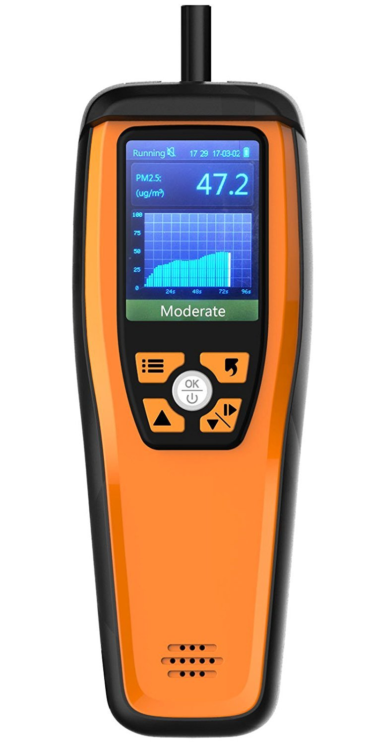 Aerosol M2000 Air Quality Monitor for PM2.5 PM10 Particles CO2 HCHO Temperature Humidity settable Audio Alarm Easy Calibration|Gas Analyzers| |  - title=
