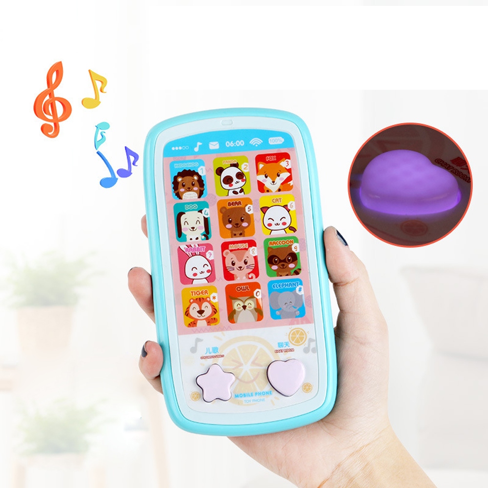 Baby Phone Toys With Music Light Mobile Phone Montessori Toys Cell Phone With Anti-lost Rope Phone Educational Toys For Children