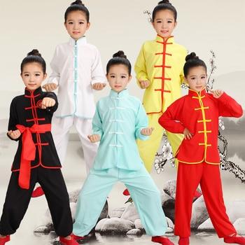 Dzieci Wushu kostium nowy młodzieży ubrania z krótkim rękawem i Tai Chi studentów Kung Fu odzież wydajność