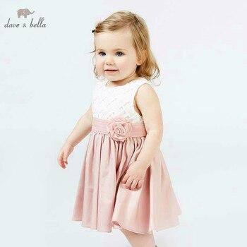 DB7674 dave bella/летнее платье принцессы для девочек Детские вечерние свадебные платья на день рождения Одежда для Ясельников платье для малышей >>