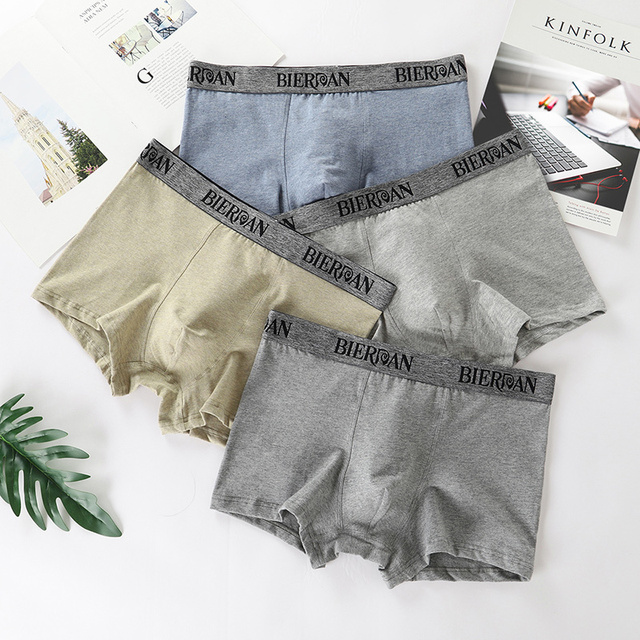 194f889be5 Boxers Underpants Clothing Cotton Mens Sheath Brand Bag Male Boxershorts Homme  Shorts Pouch Panties Cuecas Grey