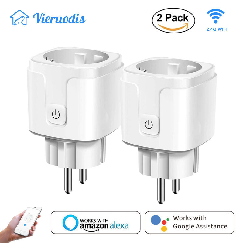 Smart WiFi Plug Remote Voice Control Wireless Socket Outlet Timing Function Compatible With Google Home/Amazon Alexa / IFTTT
