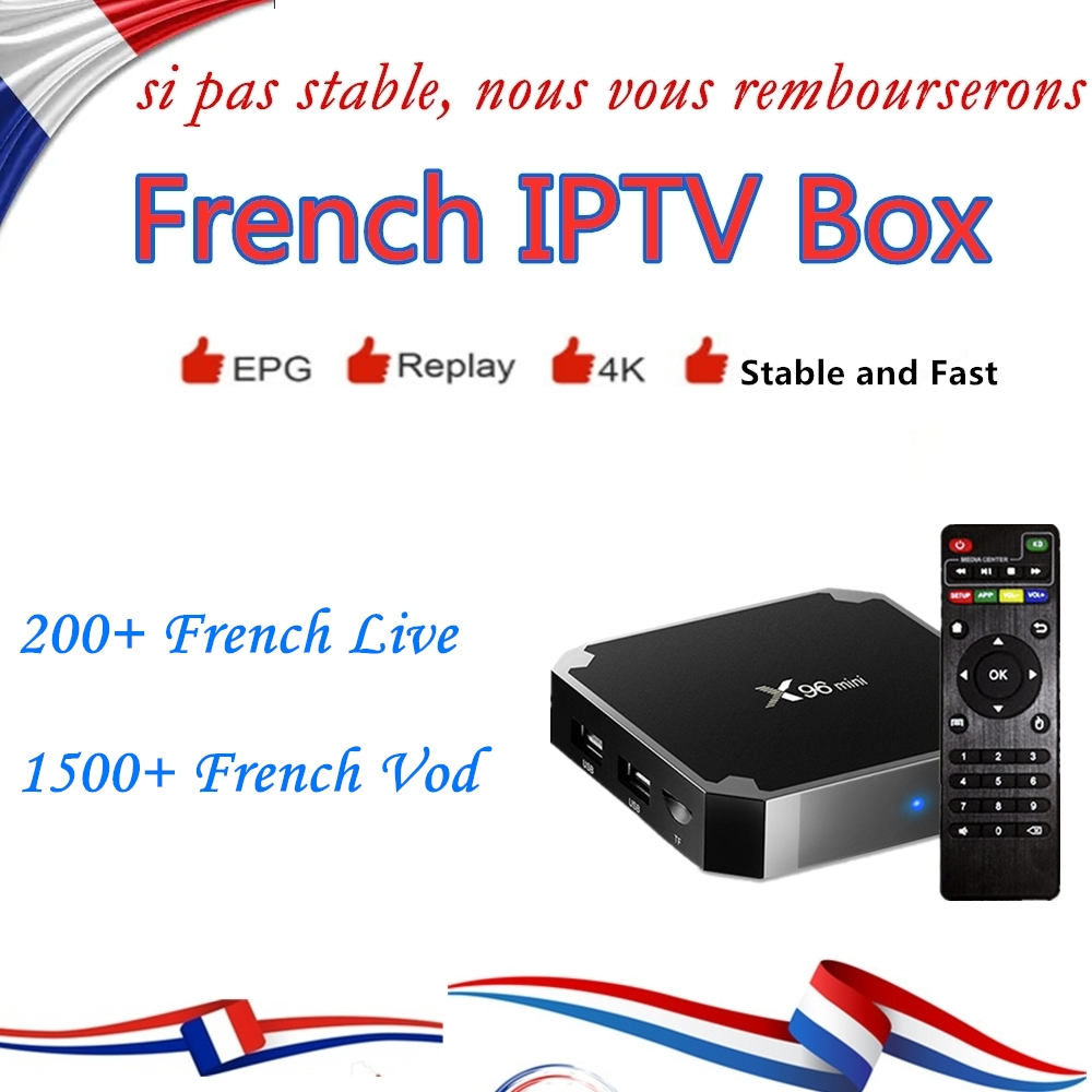 Best HD Arabic IPTV Box X96 mini With 1 year IPTV Subscription Europe French Arabic Spain