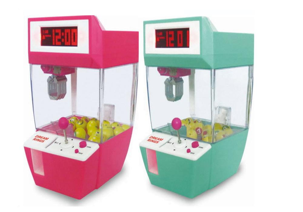 1PC Electronic Candy Arcade Candy Catcher Alarm Clock Grabber Retro Carnival Mini Arcade Crane Claw Game Funny Toys Kids Gifts