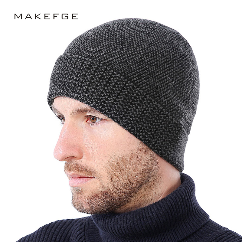 Winter cashmere mens cap hats Fashion Bos