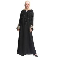 Muslim Women Abaya Arab Female Lace Stitched Elastic Waist Loose Kaftan Islamic Diamonds Dresses with Scarf