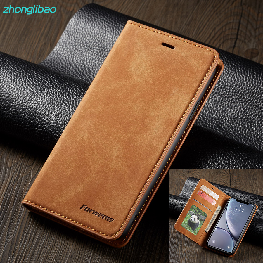 Magnetic Flip Phone Case for Iphone 11 pro Xr Xs Max X 8 7 6 6s Plus 5 5s Se Luxury Leather Etui Card Wallet Stand Book Cover(China)