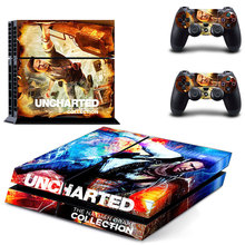 Uncharted the nathan drake collection PS 4 Skin Sticker For PS4 Playstation 4 Console + Controllers Vinyl Decal