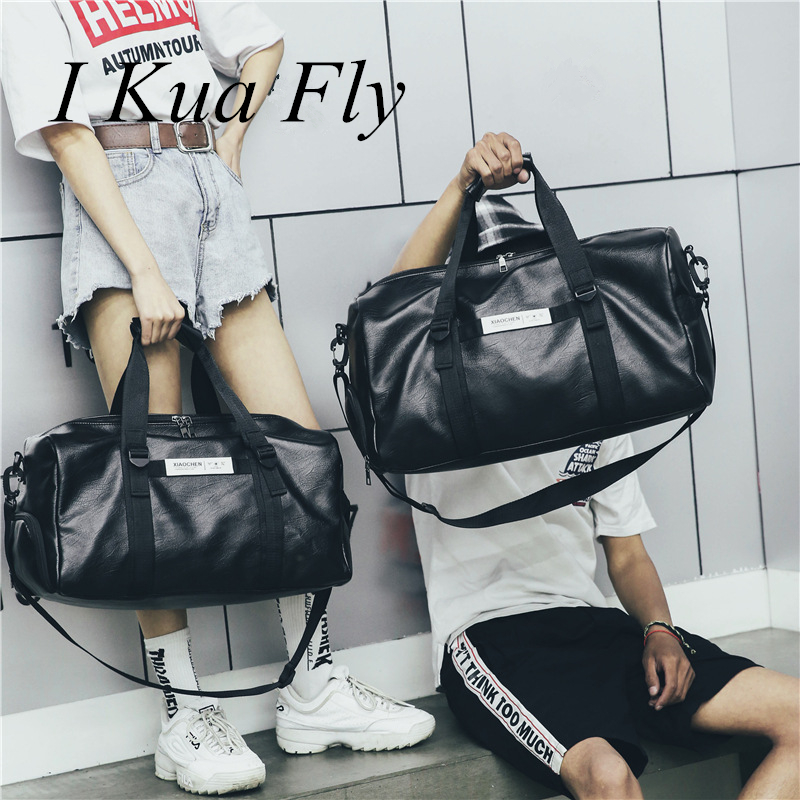 New Waterproof Pu Gym Bag Leather Men Fitness Compartment Duffle Women Shoulder Bags Travel Training Large Sport Handbag 4 High Safety