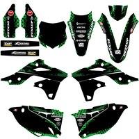 For Kawasaki KX250F KXF250 KX 250F KXF 250 2013 2014 Team Graphic Background Decals And Stickers Dirt Bike Decal