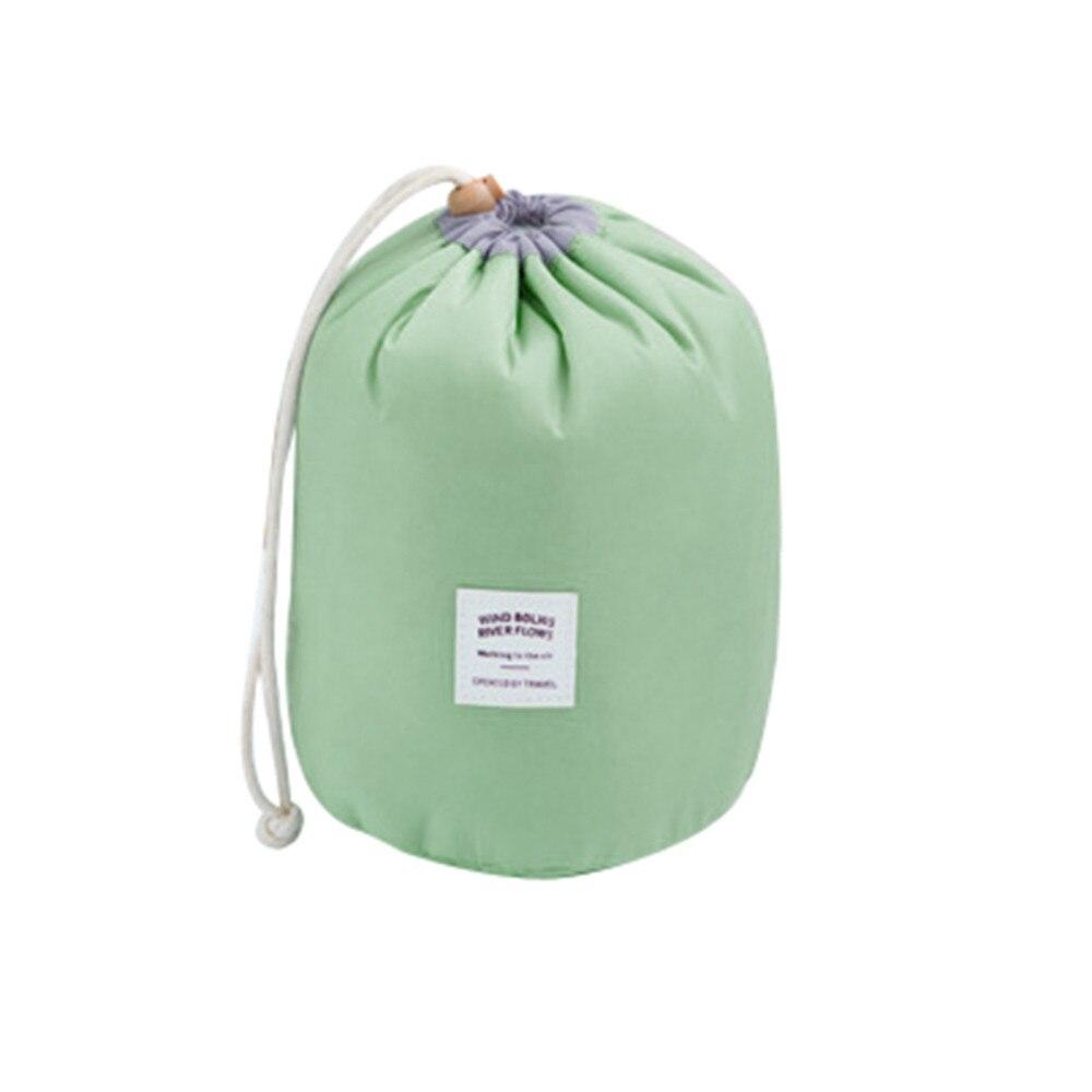 Nylon Solid Cosmetic Bag Barrel-shaped Jewelry Wash Hanging Toiletry Makeup Bags Travel Storage Case handtassen niko black 21 23 26 ukulele bag silver edge nylon soprano concert tenor soft case gig bag 5mm thick sponge