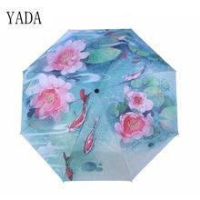 YADA NEW Charms Fish Theatre Umbrella Rain Women uv High Quality For Womens Windproof Folding Handmade Umbrellas YS105