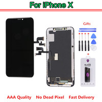 Tested Work Well LCDs For iPhone X LCD Display With 3D Touch Screen Digitizer Assembly Replacement Parts OLED AAA Quality +Gifts
