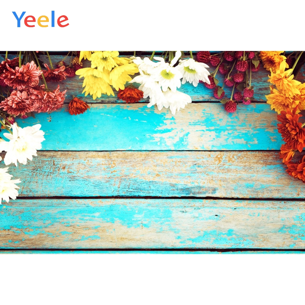 Yeele Merry Christmas Photocall Flowers Wood Party Photography Backdrops Personalized Photographic Backgrounds For Photo Studio