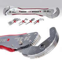 Einstellbare Magie Schlüssel Multi-funktion Zweck Spanner Werkzeuge 9-45mm Universal Schlüssel Rohr Hause Hand Werkzeug Schnell snap Grip