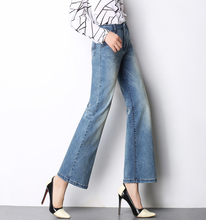 Wide leg pants for women plus size high waist casual denim jeans spring autumn cotton blend new fashion female capris run0702