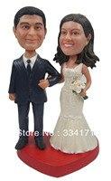Fedex Бесплатная доставка персонализированные Кукла Пупс Жених и невеста свадебный подарок свадебные украшения polyresin