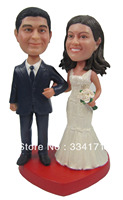 Fedex free shipping Personalized bobblehead doll bride and groom wedding gift wedding decoration polyresin