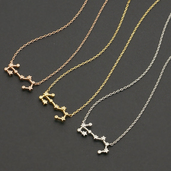 Daisies One Piece Scorpio Necklace Astrology Zodiac Necklace For