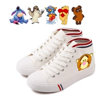Lovely Funny Owl Tigger Bear Roo Eeyore Cartoon pattern Cool Printing Women's High top Double Canvas Shoes Fashion Casual Shoes
