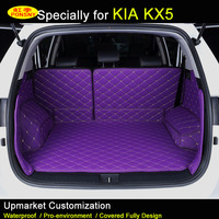 For KIA KX5 Car Trunk Mats KIA KX3 Sportage R Trunk Carpets 3D Rugs Black Beige