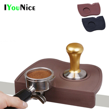 IYouNice High Quality Espresso Coffee tamper mat Silicon corner mat Coffee Maker Tamper Mat (no coffee tamper)