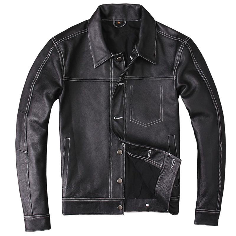Jacket HARLEY-DAMSON Genuine-Cowhide-Spring XXXL Short American Black Casual Coat Natural