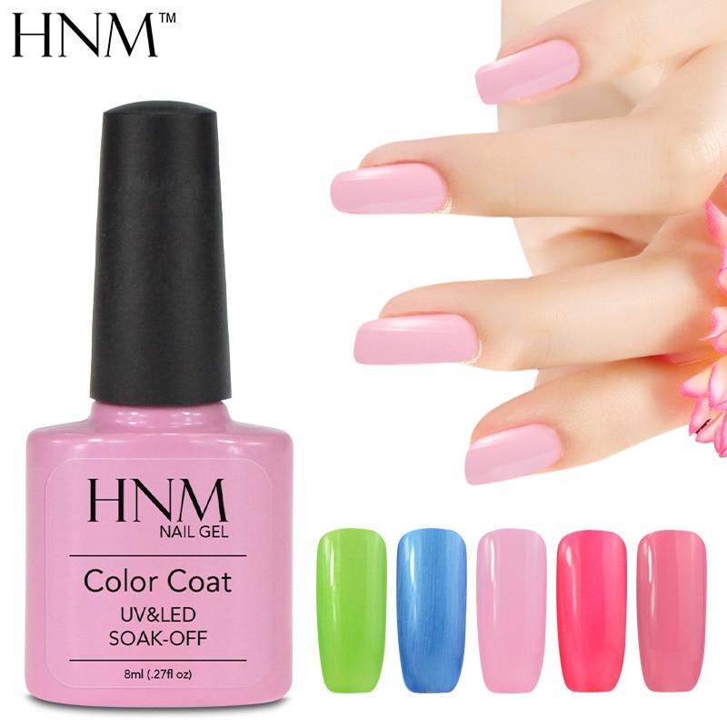 HNM 8ML Nail Gel Soak Off Semi Permanent Gel Nail Polish Manicure ...