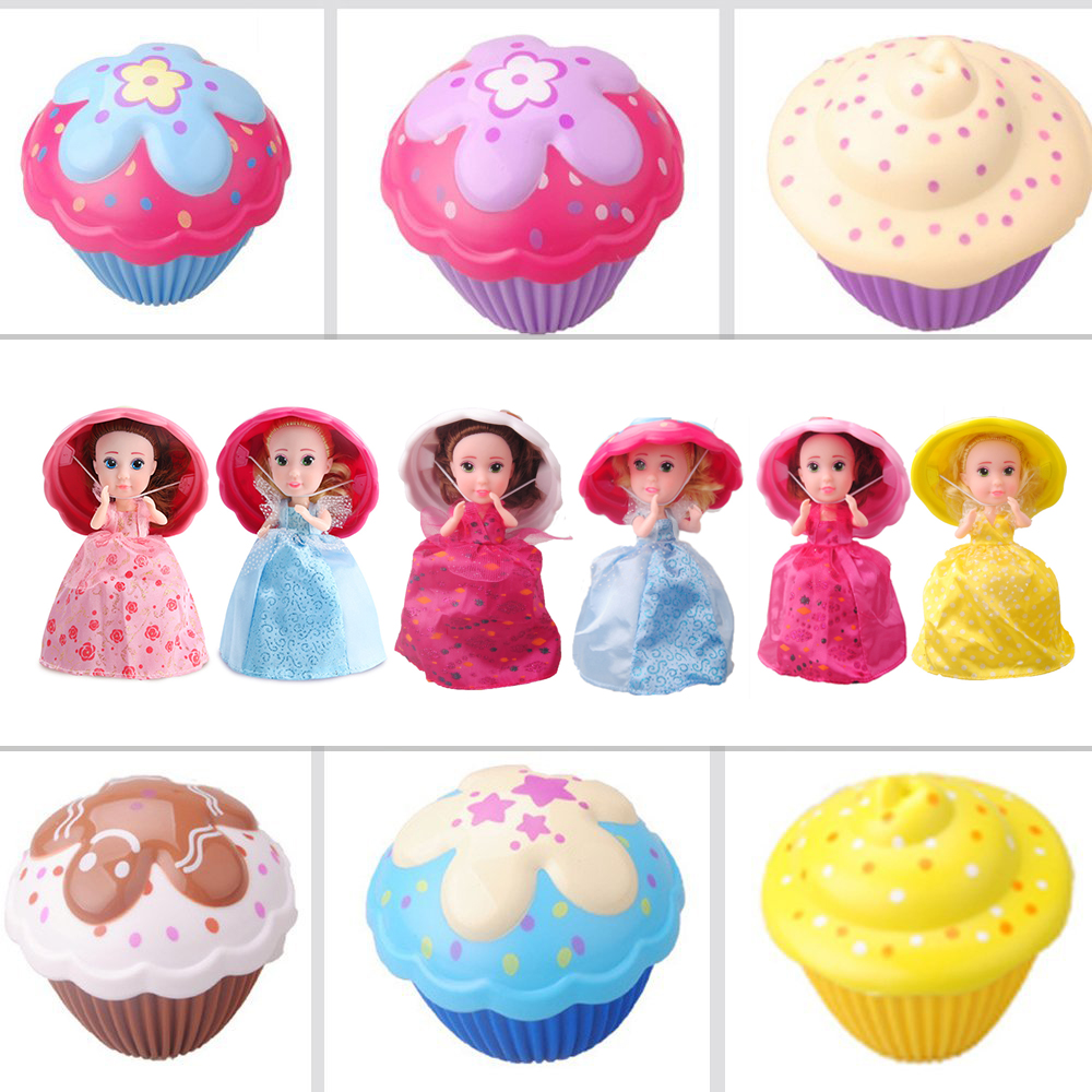 6 Inch Surprise Cupcake Doll Deformable 1pcs Dolls Girl Beautiful Cute Toy Birthday Present Mini Cup Cake Doll Toys for Girls original winx club bloom musa beautiful girl magiche fan doll collection toys