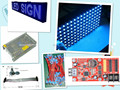 free shipping DIY LED moving sign Electronic kits with 20pcs P10 outdoor blue LED module+1 pc led controller+2pc power supply