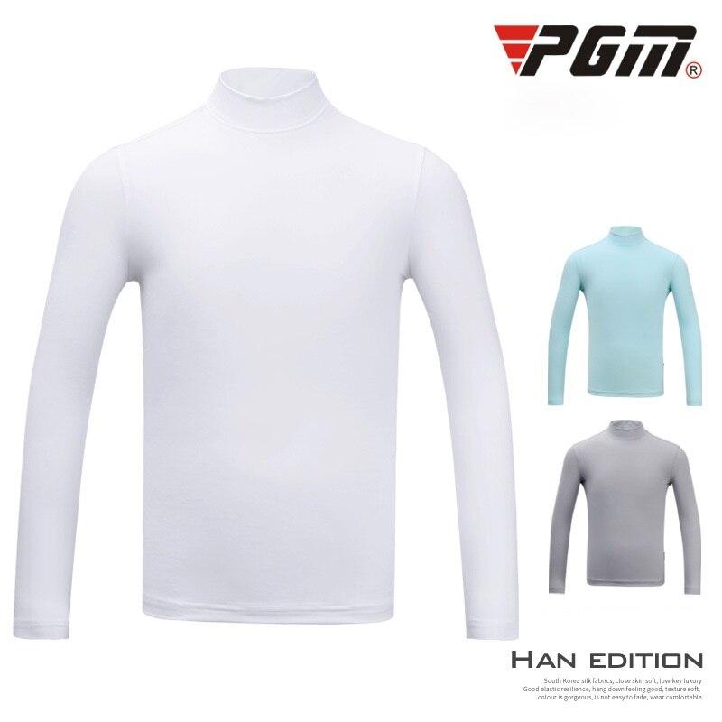 Pgm Golf Shirts Boys Ics Silk Sunscreen Shirt Children Long Sleeve Anti-UV Golf Tops Kids Tennis Sportswear D1097