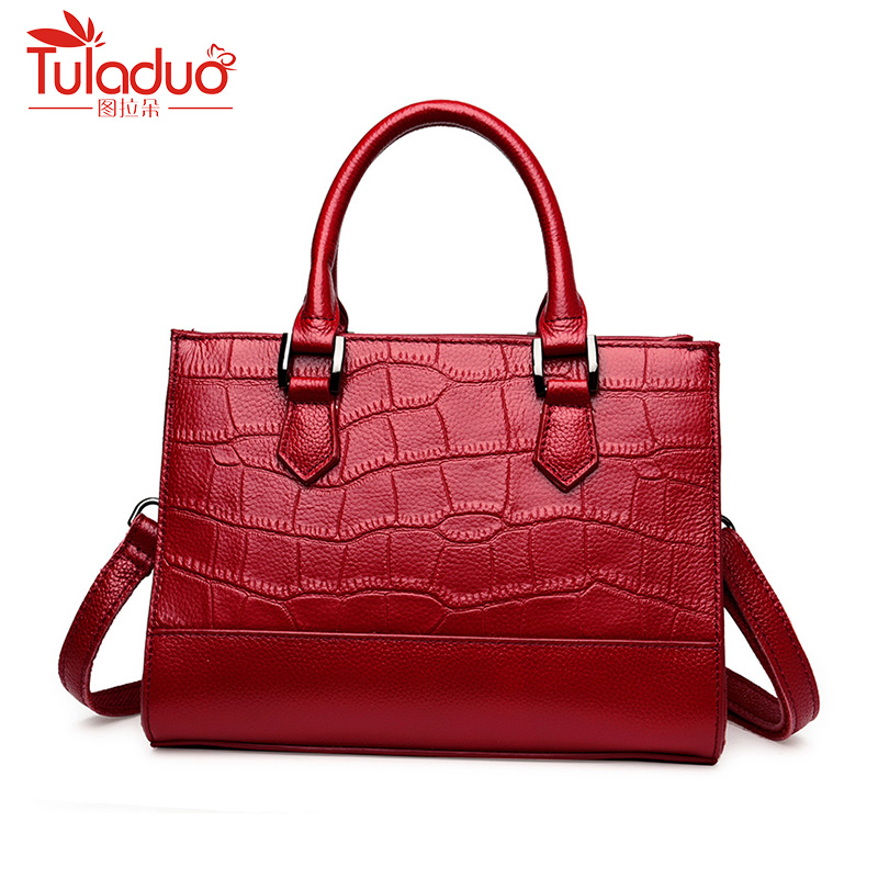 Fashion Women Shoulder Bags High Quality Crocodile Pattern Bag Large Capacity Women Genuine Leather Handbags Designer Ladies Bag fashion women genuine leather handbags large capacity tote bag oil wax leather shoulder bag crossbody bags for women