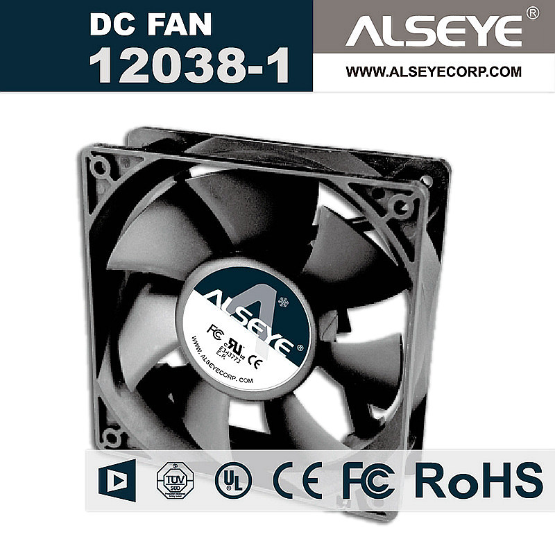 ALSEYE 120mm DC 24V Cooling Fan Radiator 0.3A 2600RPM High Performance Fans for Industrial Electrical Repair Parts 12x12x3.8cm delta 12038 120mm 12cm ffb1212vhe dc 12v 1 5a 24w 4wire violence server industrial case cooling fans