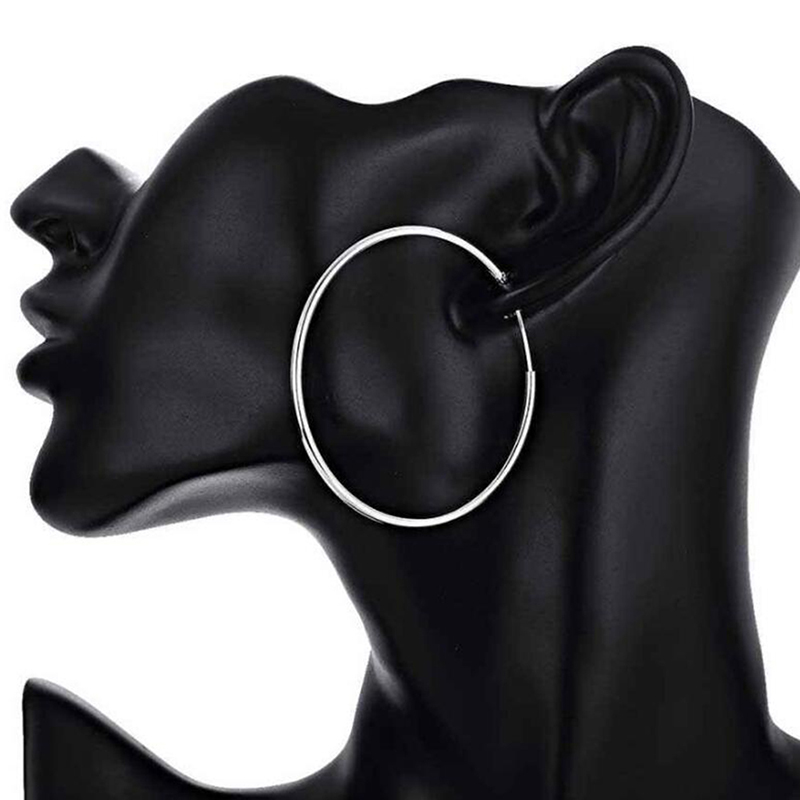 sinya circle ring hoop earring in 925 sterling silver ED0348E (11)