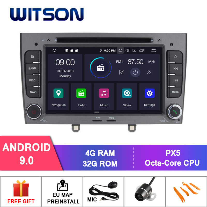 WITSON Android 9 0 car dvd player for PEUGEOT 408 2010 2011 4GB RAM 32GB ROM