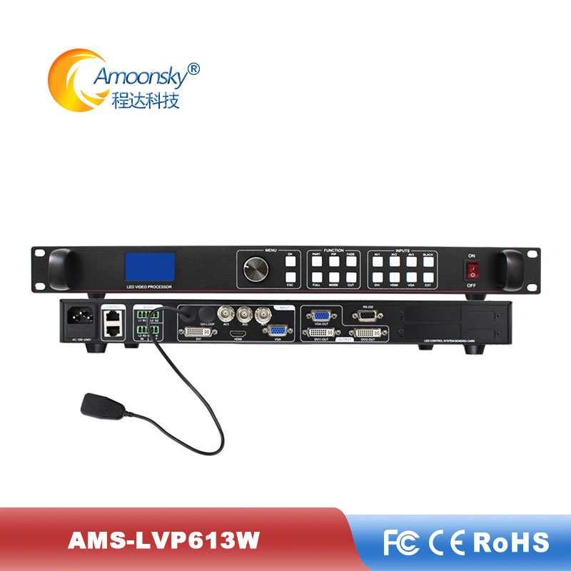 AMS-LVP613W Video Processor Mobile Phone Control Display Max Support 2304*1152 2048*640 Pixels LED Rental Screen Special Offer