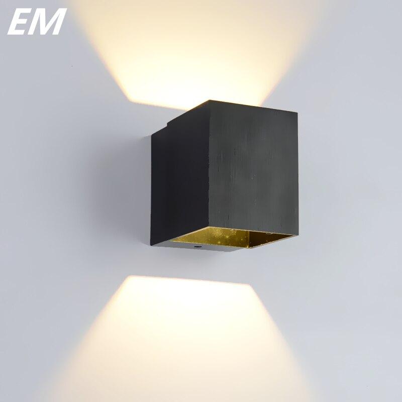 New black/gold Led Wall Light 75mm*75mm 3W Aluminu...