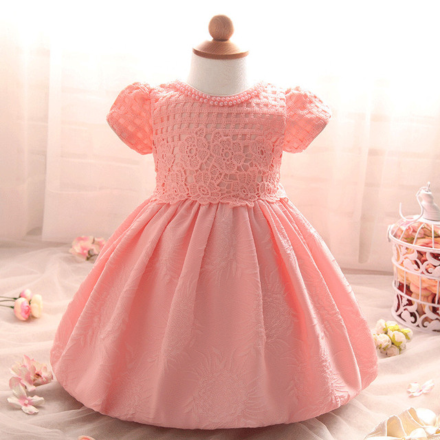 Baby girl dress Christening Gown 1 year birthday dress white wedding dress Baptism cute roupas bebe vestido infantil para festa