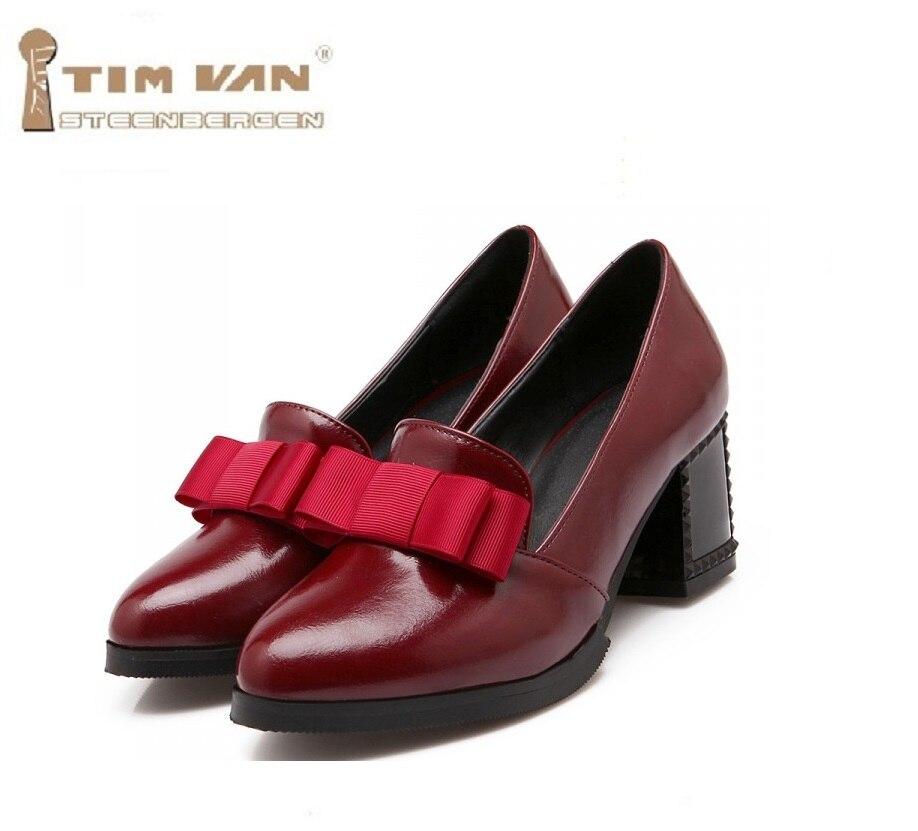 Simple talon haut des femmes britanniques épais Chaussures de fond isFkeDZv