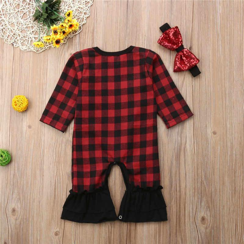 Для маленьких девочек проверил Ползунки с длинным рукавом красные, черные пледы комбинезон, Костюм блестками бантом повязки; одежда