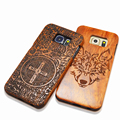 Натуральное Дерево Тиснением Чехол Для iPhone 5 5s SE 6 6 s Plus Samsung Galaxy S6 S7 край Плюс S5 S4 S3 Примечание 7 5 4 Резьба Деревянные Принципиально