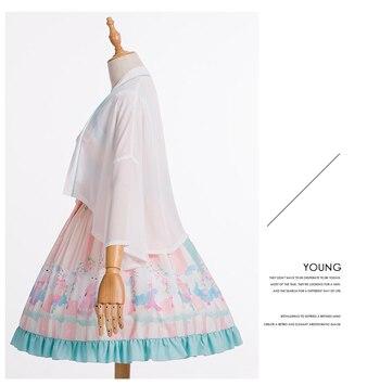 New Element robe deux pièces imprimé frais Lolita au printemps et en été 2019