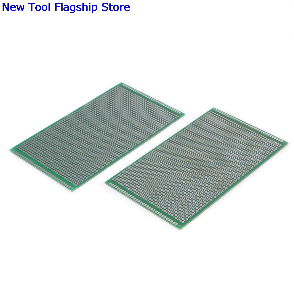 2Pcs/set Double Side Prototype DIY PCB Tinned Glass Fiber Universal Soldering Board 9x15 ...
