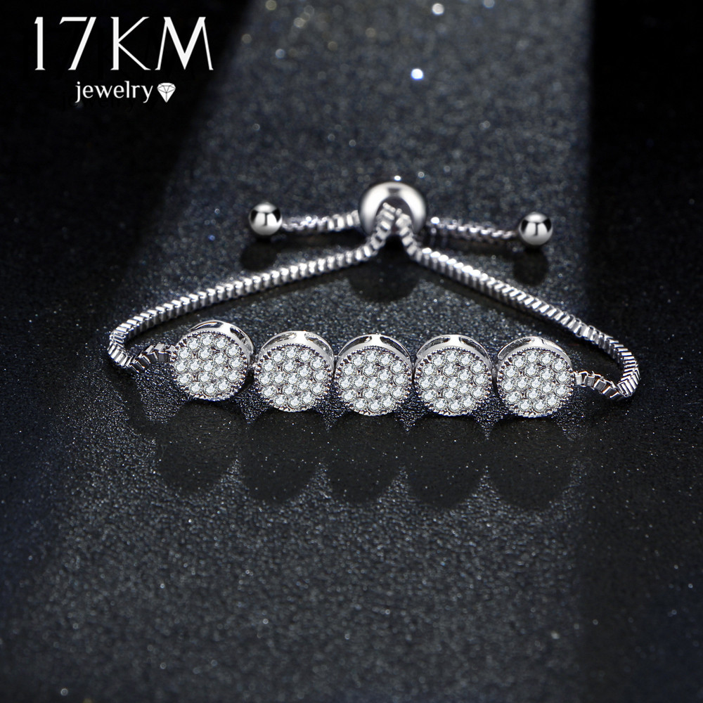 17 KM New Fashion Gelang Adjustable Untuk Wanita Pulseras Mujer Pesta - Perhiasan fashion - Foto 4