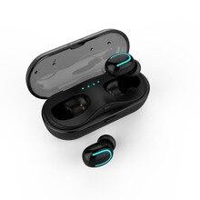 TWS Mini Sem Fio Bluetooth 5.0 Fone De Ouvido Fones de Ouvido Estéreo Chamadas Headset chamada Carro Bilateral Com Mic para o telefone de Carregamento da Caixa
