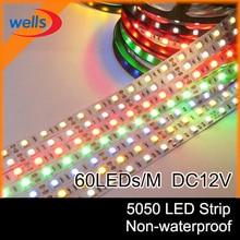5m 5630 5050 3528  SMD LED Strip Light DC12V 5M 300led flexible IP20 white/warm white RGB non-waterproof
