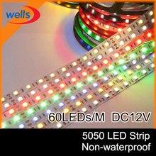 5m 5630 5050 3528 smd não-impermeável branco/branco morno/rgb led strip light dc12v 150leds/300leds ip20