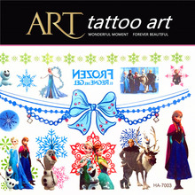 Ice Princess Sister Child Temporary Tattoo Body Art Flash Tattoo Stickers Waterproof Henna Tato Car Styling Wall Sticker