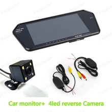 New arrival 7″ TFT bluetooth Car Monitor for car parking reversing with 4led Reverse Camera ,free shipping